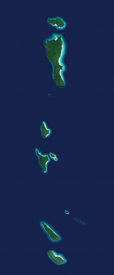 similan islands satellite map