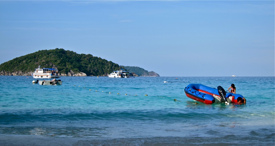 A rare sight: budget liveaboards in the Similan Islands