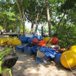 new mooring bouys and ropes on Koh Miang